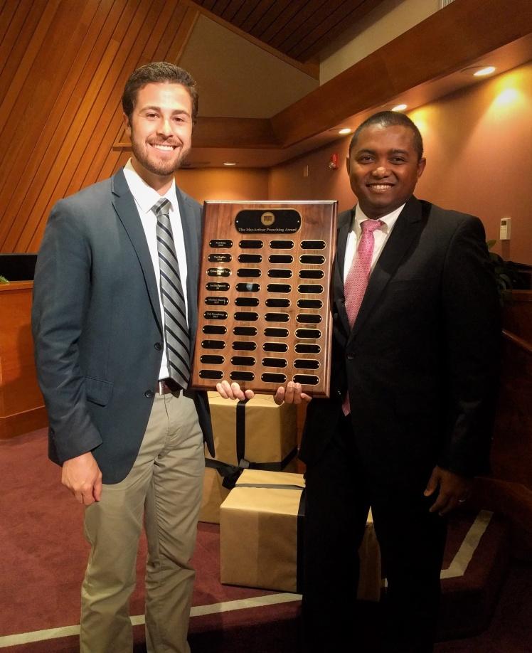 MacArthur Preaching Award - Faly Ravoahangy and Matt Russell